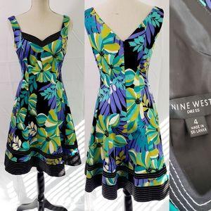 Nines West Sleeveless Floral Print Dress 4